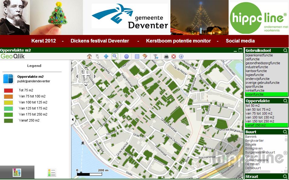 GeoQlik en kerstboompotentie in Deventer